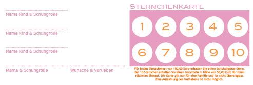 Sternchenkarte quer 20152
